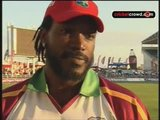 Gayle on his first home century (Jamaica)