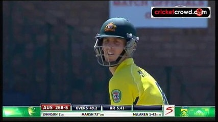 Marsh blitz powers Aussies into final: 6th Tri-Nations (Harare)